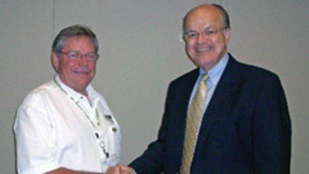 Woodwork Career Alliance president Scott Nelson (left) and vice president Duane Griffiths.