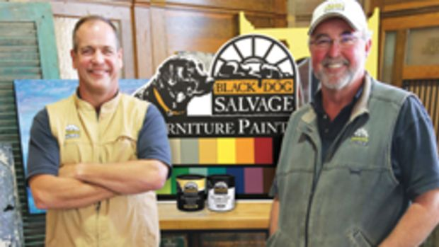 Mike Whiteside (left) and Robert Kulp, co-owners of Black Dog Salvage.
