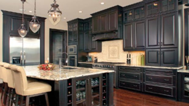 Darker finishes, such as espresso, have gained the lead for kitchen coatings. The recent NKBA survey indicates that dark natural finishes rose from 42 percent to 51 percent in consumer preferences during the last year.