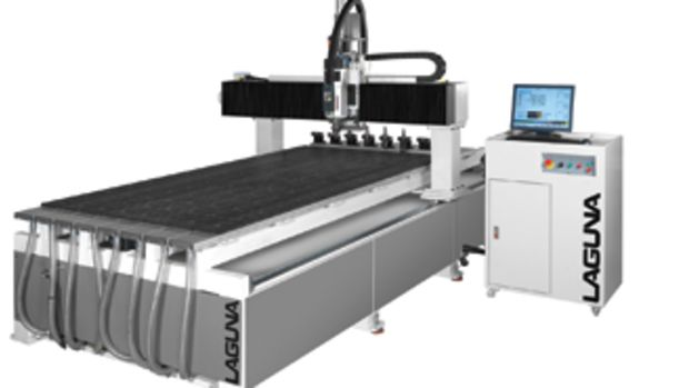 Laugan Tools has introduced nine CNC machine models. The Intelligenzia, right, is available with a 4x8 or 5x12 table.
