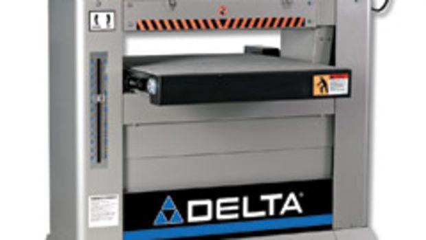 "Delta's new 26"" dual drum sander."