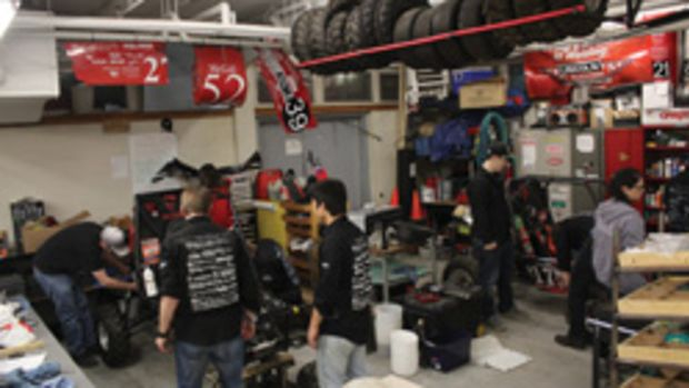 More than 50 students from McGill University in Montreal used tooling donated by Vortex Tool Co. to build their team's Baja race car.