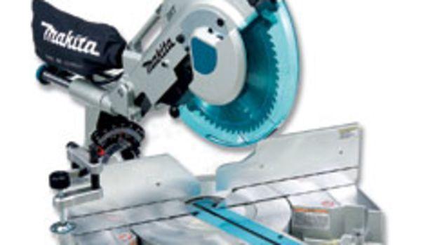 """Makita's new 12"""" dual-slide compound miter saw, model LS1216L."""