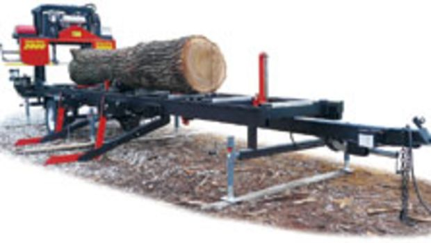 TimberKing has updated its B-20 sawmill with a new model, the B2000, which features a larger cut throat and other improvements.