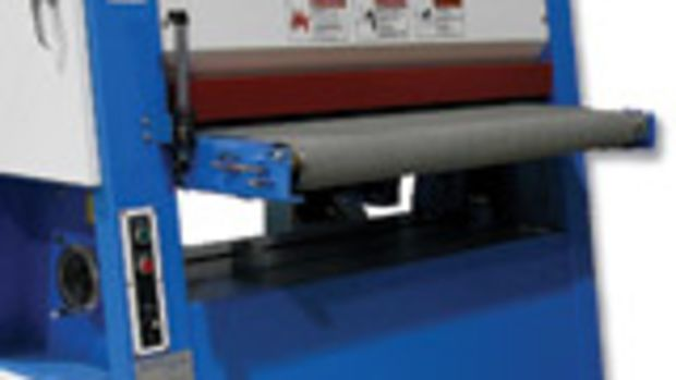 "TimeSavers has expanded its SpeedSander to include 25"" and 43"" models. The A-frame design keeps the machine's weight low, which provides for solid operation or transports, according to TimeSaver."