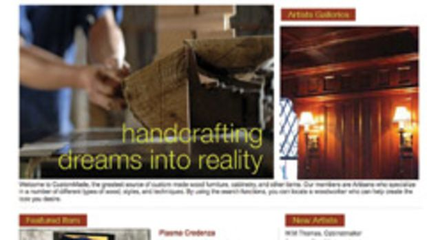 CustomMade.com connects custom woodworkers with potential clients.
