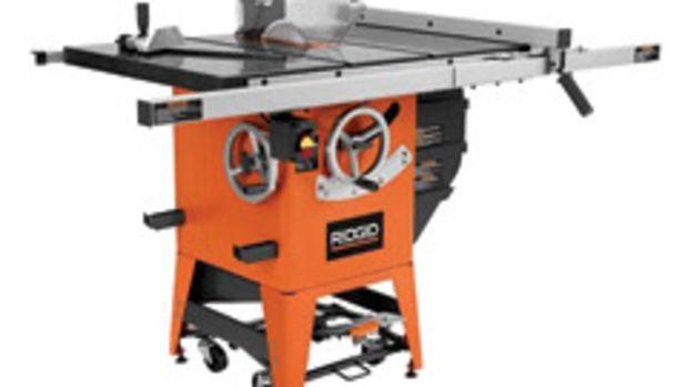 "Ridgid model R4511 10"" table saw"