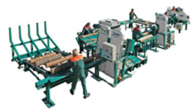 The Small Log Processing line, available from Wood-Mizer.