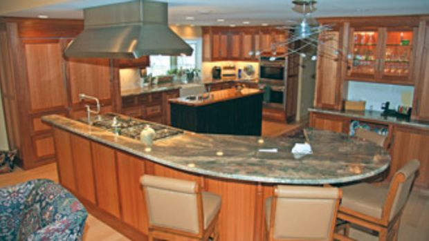 Custom Wood Designs builds kitchens for clients from Manhattan to Martha's Vineyard.