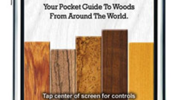 "The iPhone and iPod application ""I.D.Wood"" has been popular with architects and designers."