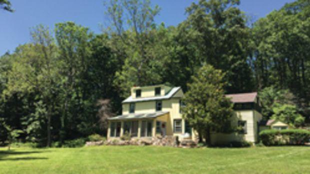 "A backyard view of the ""Sunekrest"" farmhouse at the Wharton Esherick Museum in Malvern, Pa."