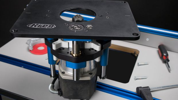 New router lift from rockler woodshop news new router table insert from kreg greentooth Image collections