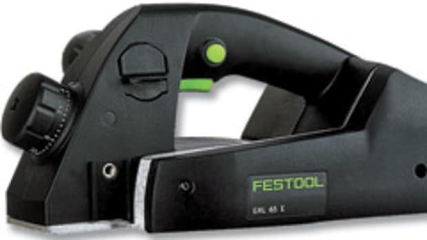Festool has introduced a single-knife one-handed planer, model EHL 65E.