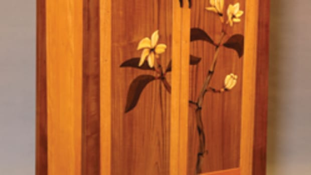 """The """"Mastery Showcase"""" at the Northwest Woodworking Studio in Portland, Ore., featured this armoire by Tom Nichols."""