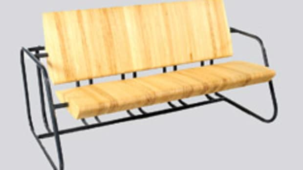 """The """"Wright Bench"""" by Eugene DuClos won Best in Show at the IWF 2012 Design Emphasis competition."""