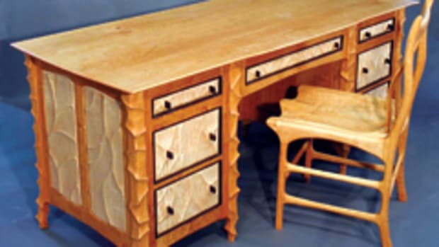 Williams' winning desk at the Western Design Conference.