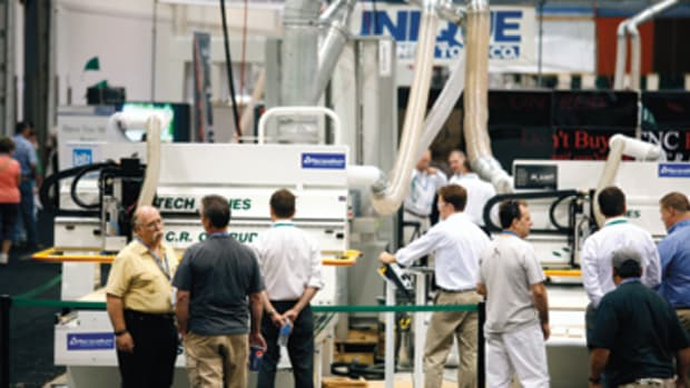 Trade shows are a great opportunity to see CNC equipment in action.