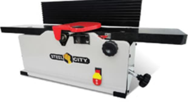 "Steel City's new 6"" bench-top jointer, model 40610."