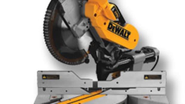 "DeWalt's 12"" sliding compound miter saw, model DWS780."