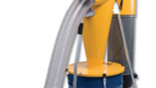 Onieda's Smart Dust Collector, with 35-gallon drum and castors.