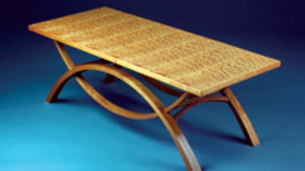 """This table by Ted Newman was in the Messler Gallery's """"Current Student Work"""" exhibit."""