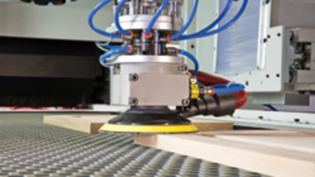 Viet's Opera R is an automated solution to sanding doors with flat center panels.