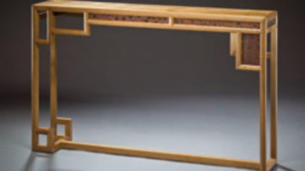 Brad Reid's hall table.
