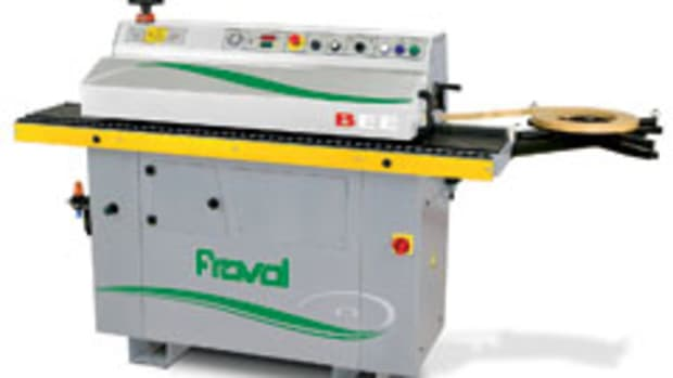 Unlike other edgebanders of this size, Fravol's BEE series can process wood veneers and PVC/ABS banding up to 3mm thick, according to Thermwood.