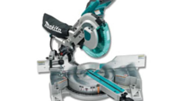 """Makita says its new 10"""" dual-slide compound miter saw has cutting capacities of a 12"""" saw"""