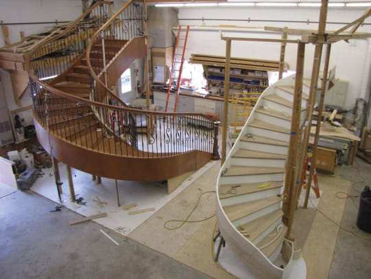 stair-assembly-in-shop