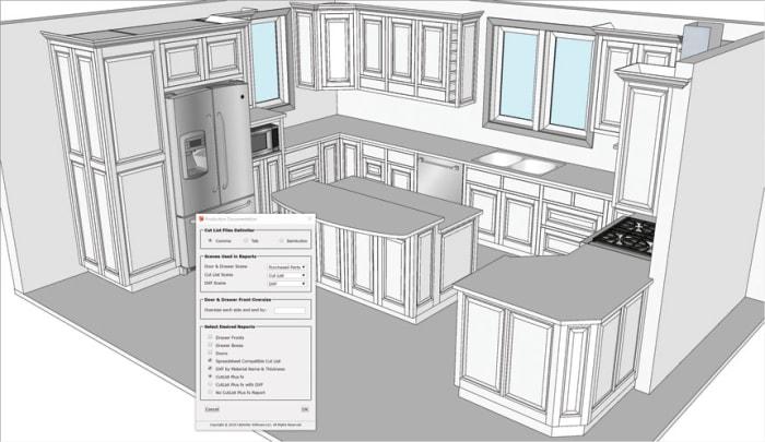 CabWriter Updates Cabinet Design Extensions For SketchUp