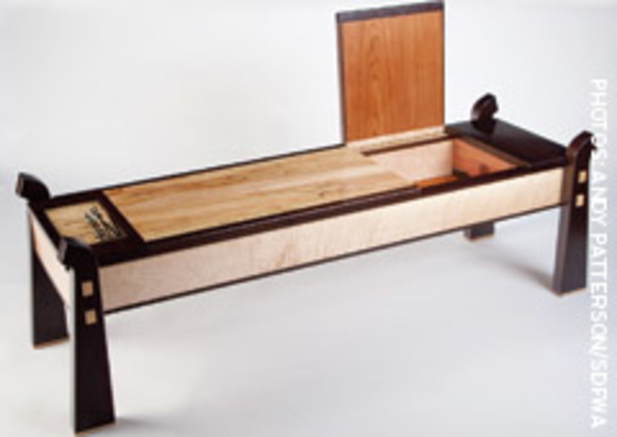"""Haiku Bench/Table"" from David Blackburn took top honors in the Contemporary Woodworking - Furniture category."