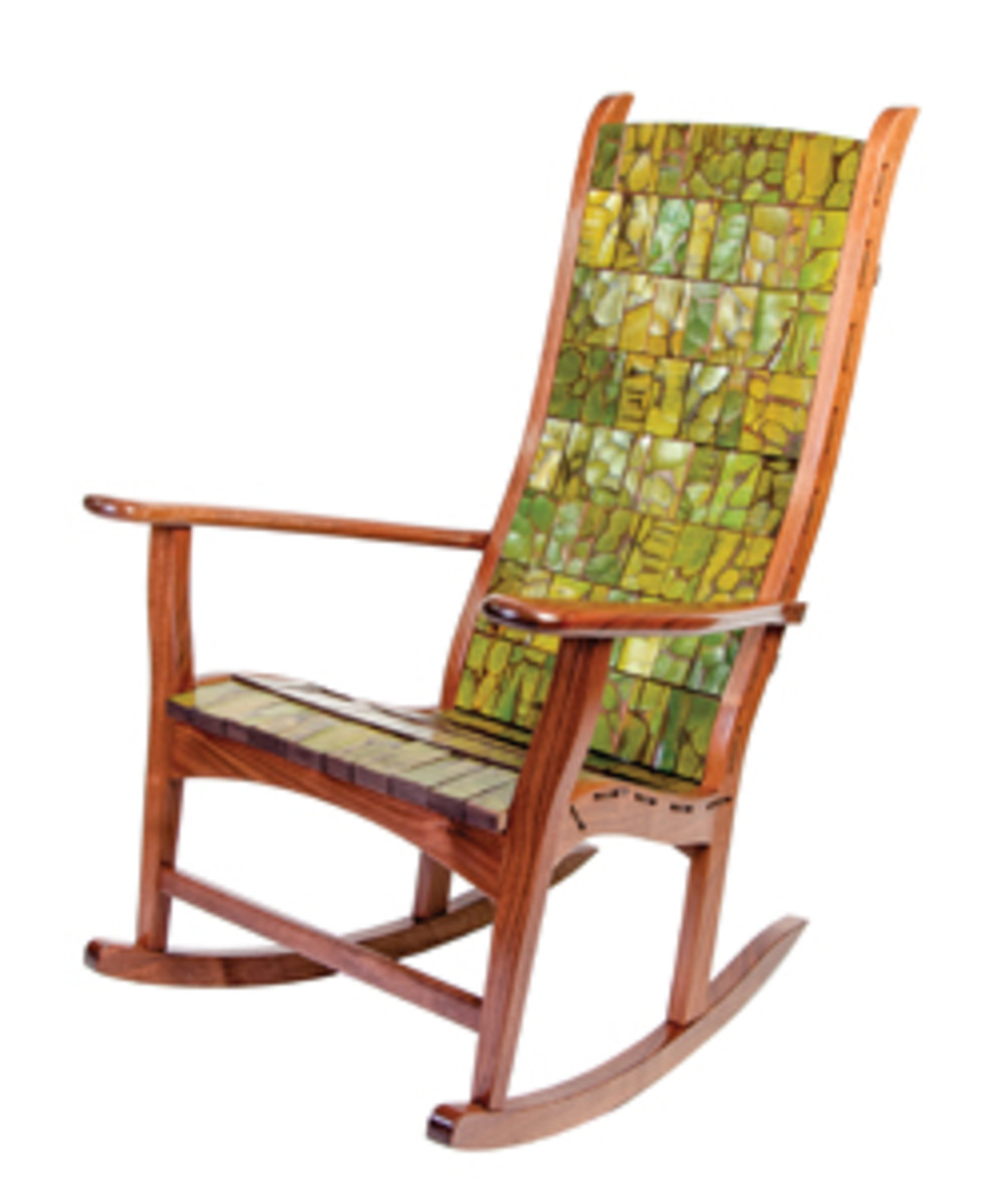 """From the Trees,"" a rocking chair from Alan Daigre Design and Michael Bauermeister."