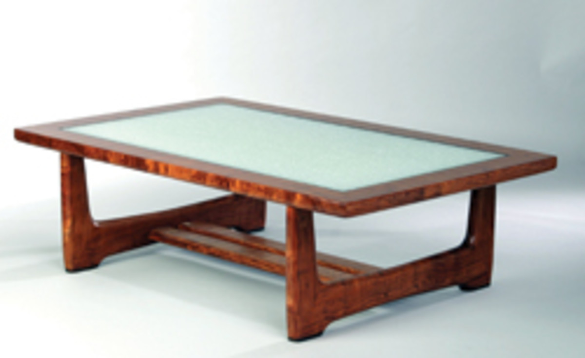 Dave Seymour's table, featured at the Wilding Museum's recent exhibit.