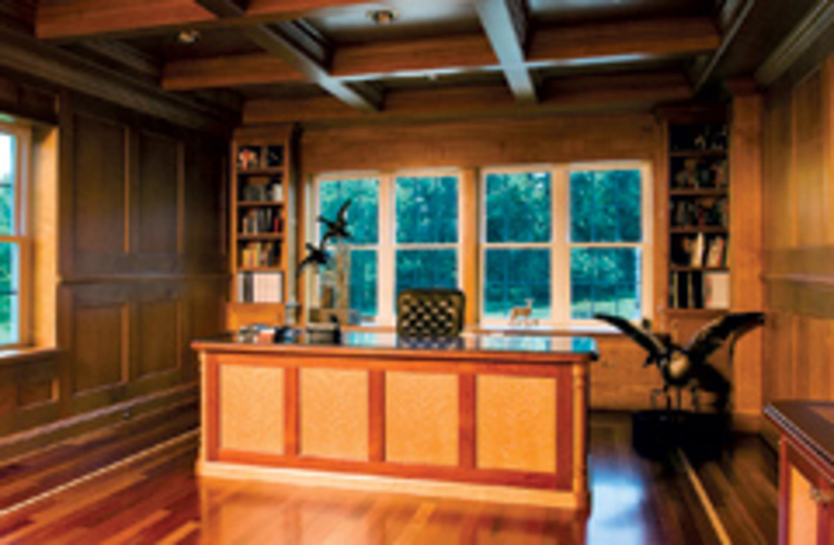 There was a bit of woodwork in this home office job.