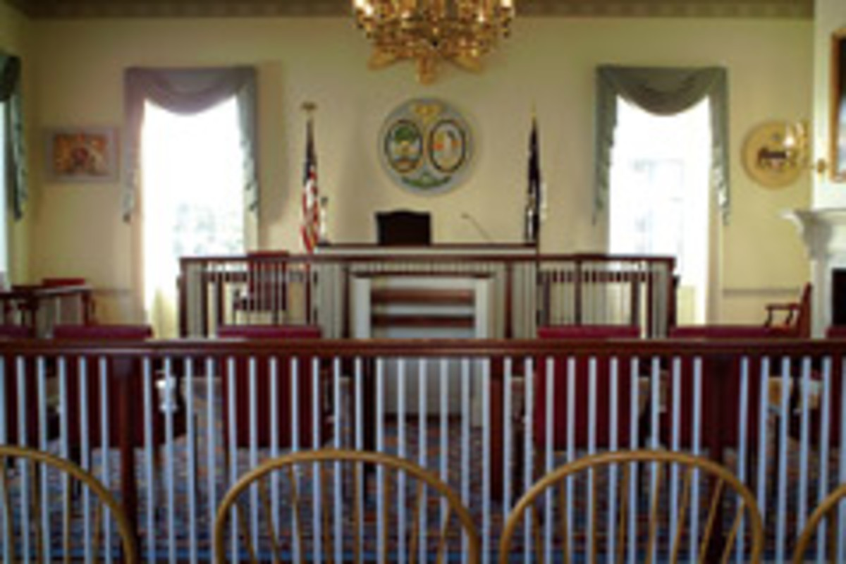 Some of the shop's work in the Charleston County Courthouse.