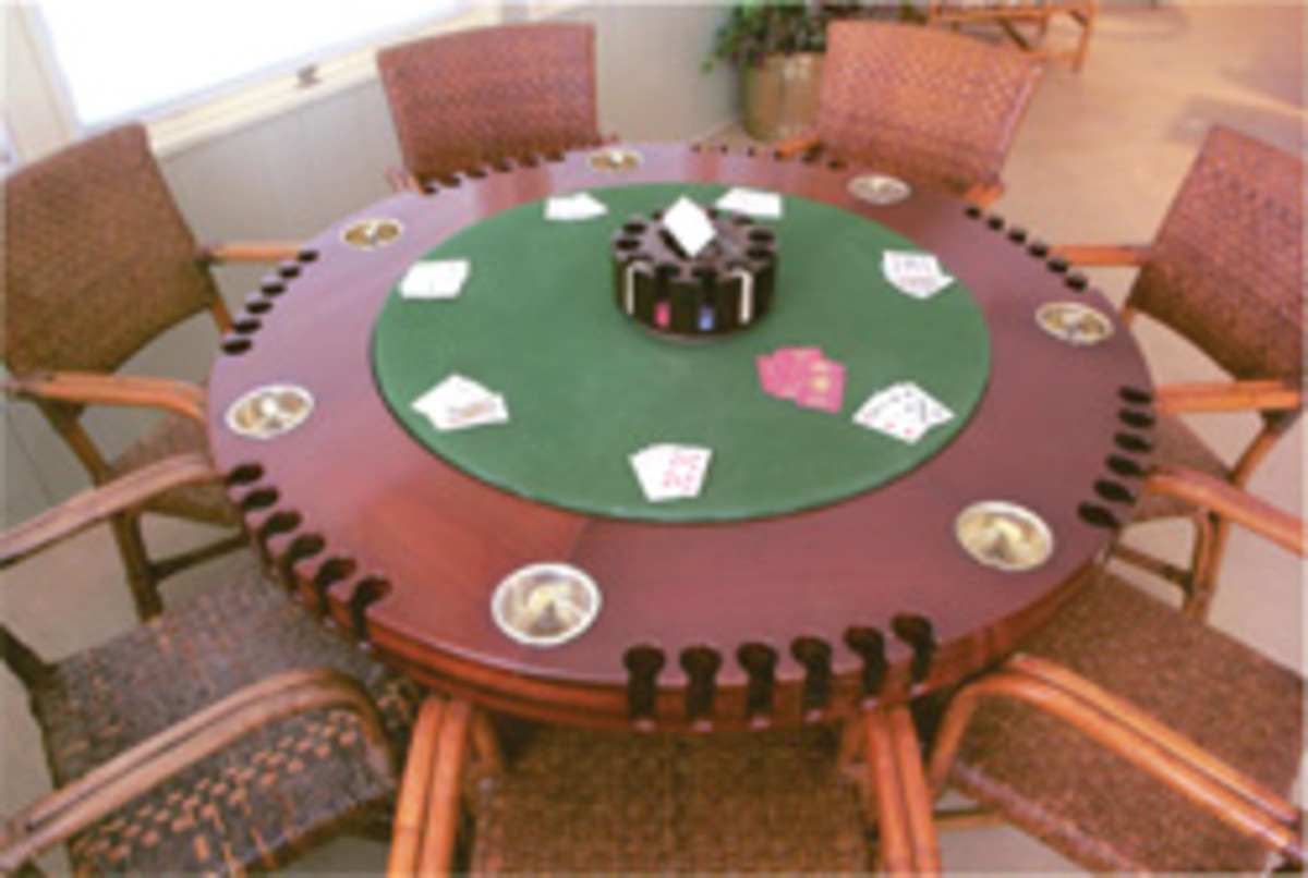 The original poker table at the Harry S. Truman Little White House in Key West, Fla.