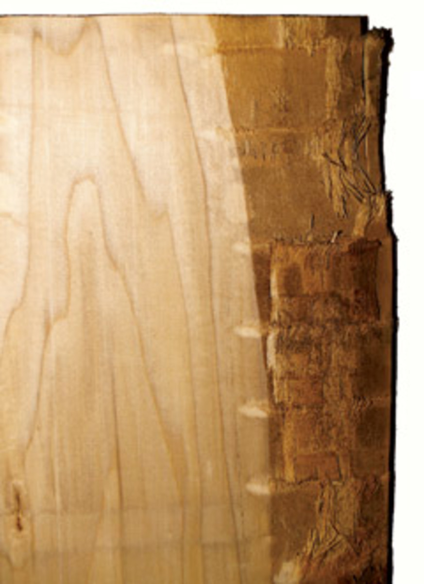 Excess wane, natural bark along one edge, is something to avoid.