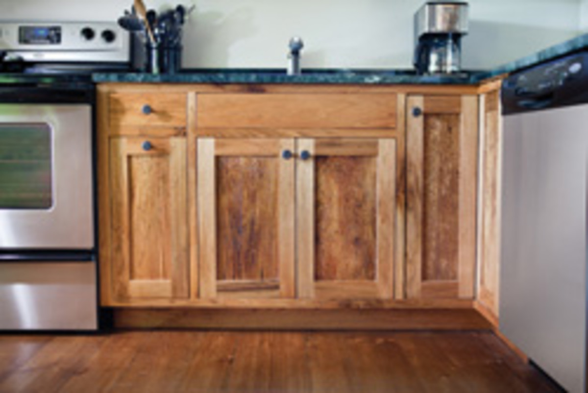 Kitchen cabinets are a top seller, but furniture is also made.