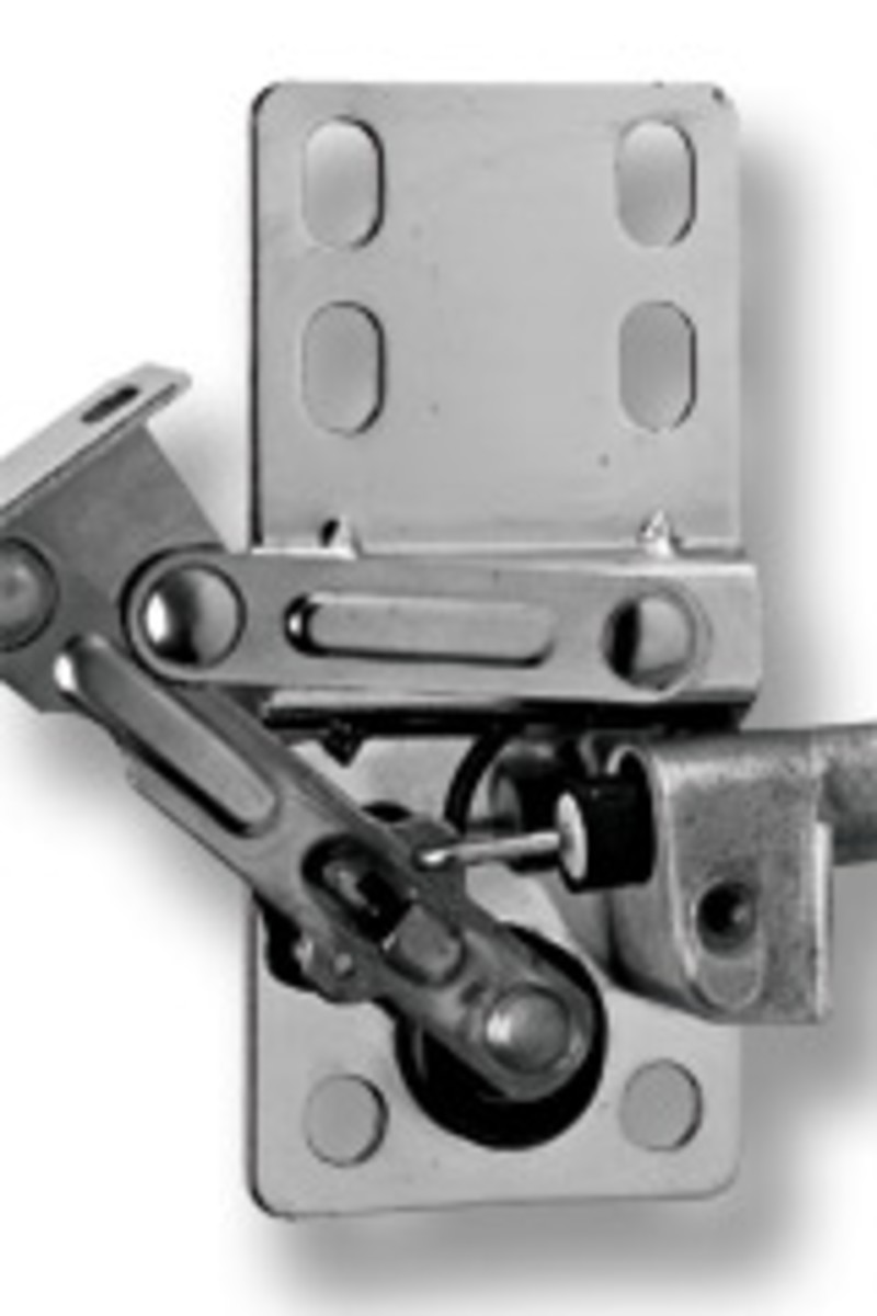 Rev-A-Shelf's soft-close tipout hinge.