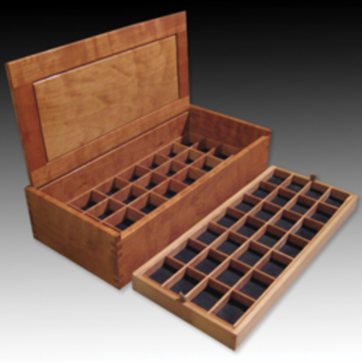 Work By CraftBoston exhibitors includes this jewelry box by David Klenk of Gray, Maine.