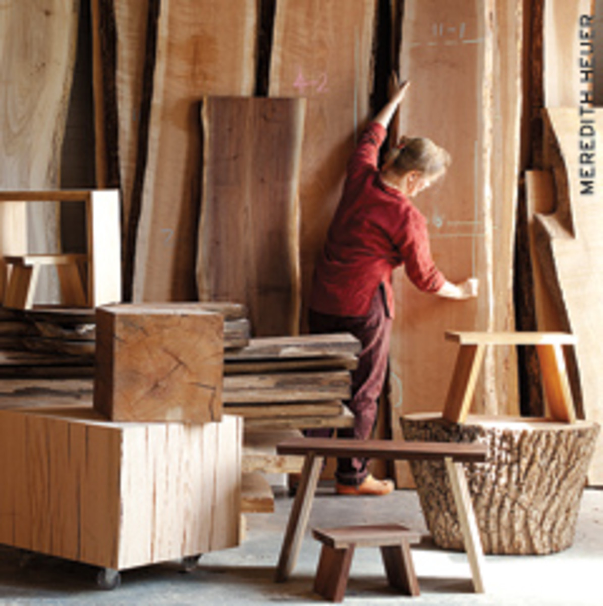 Jessica Wickham works in her shop in Beacon, N.Y.