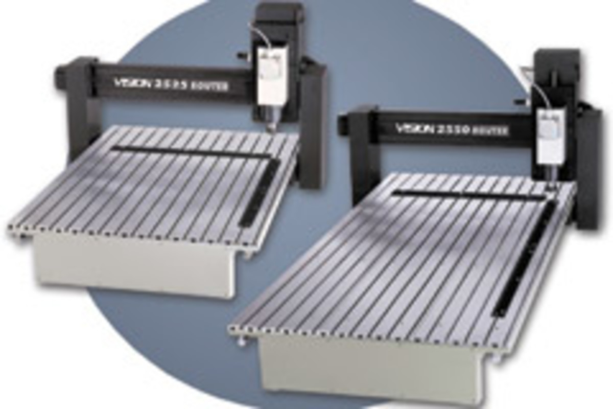The new 2525 and 2550 CNC routers and engravers from Vision Engraving Systems.