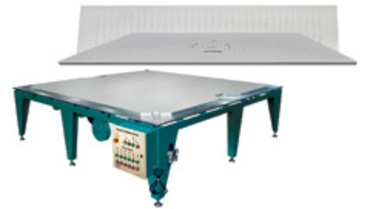 GPI's vacuum tables can be customized to meet specific needs, according to the manufacturer.