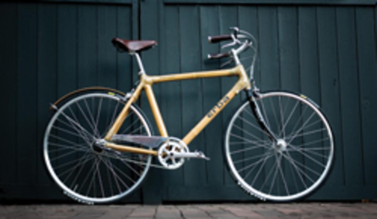 "The ""Erban"" bycycle at Messler, made with bamboo and hemp."