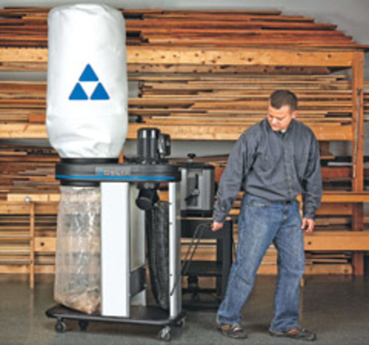 Delta's 1-1/2-hp dust collector, model 50-786.