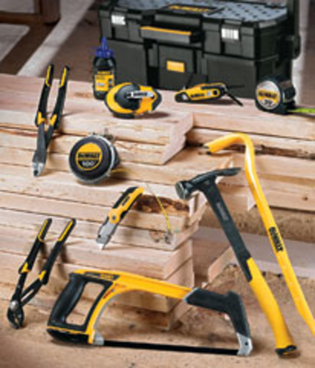 DeWalt has introduced a line of hand tools for professional use.