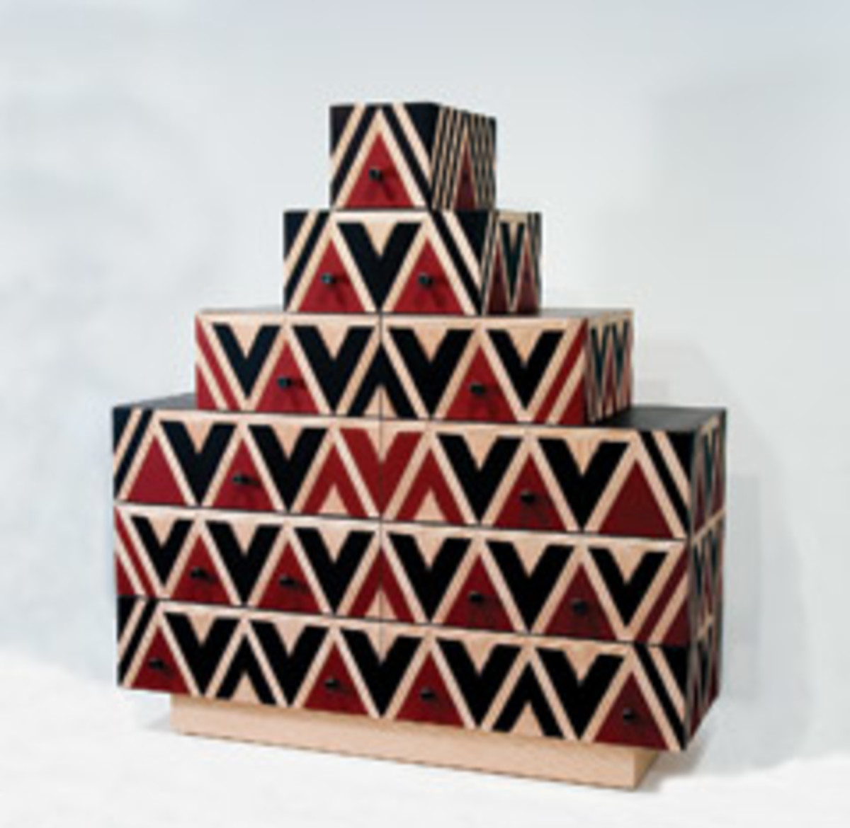 "The Early Spring Show at Pritam & Eames includes this ""Pyramid Chest"" by Judy Kensley McKie."