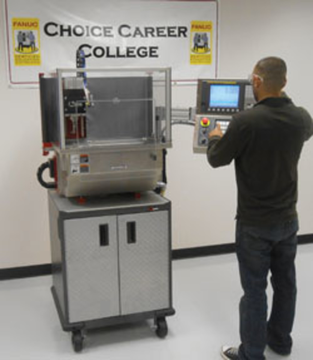 Fanuc is addressing the industry need for skilled workers at Choice Career College with its Certified CNC Training program.