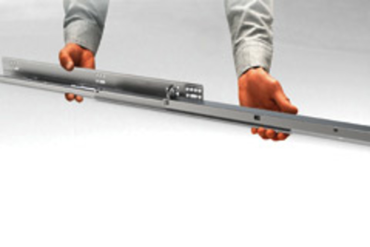 Blum's next-generation Tandem plus Blumotion drawer slide.
